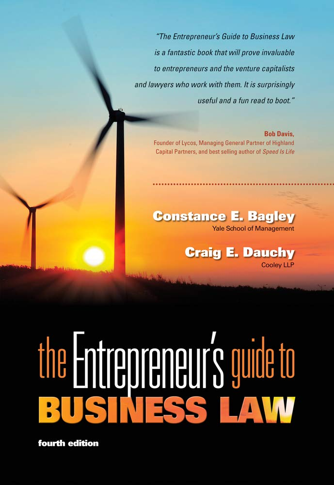 Image OfThe Entrepreneur's Guide To Business Law, 4th Edition