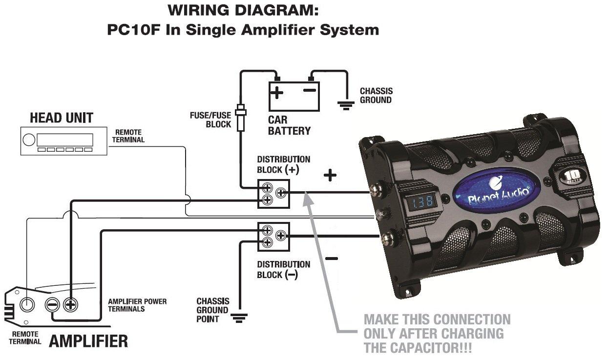 Planet Audio Pc10f 10 Farad Car Capacitor For Energy Storage To Enhance Bass Demand From Audio System Amazon Com Au Automotive
