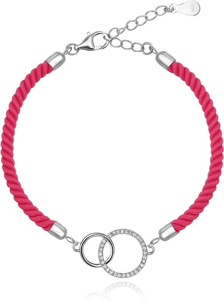 sofia milani – bracciale da donna con cerchio – in vero argento sterling 925 30180