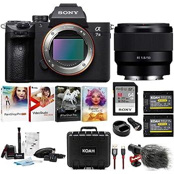 Sony a7 III Full Frame Mirrorless Camera Bundles (a7III Body + SEL50F18F Lens Bundle)