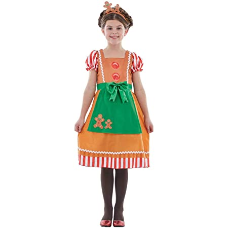fun shack Kids Gingerbread Man Costume Childrens Christmas Party Dress Xmas Outfit