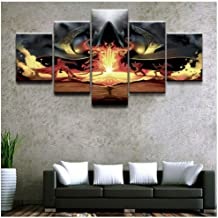 Junewind Canvas Painting Canvas Print Poster Wall Art Picture 5 Pieces Demon Hunter Diablo Iii Reaper of Souls The Wizard Painting Home Decor Boys Room-Size