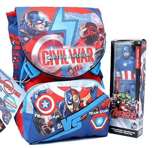 Zaino Sdoppiabile C/Capitan America Civil War Capitan America Marvel