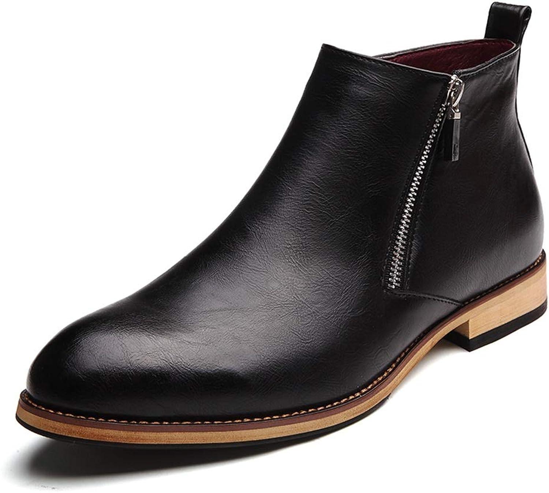 Men's Fashion Ankle Boots Casual Classic Side Zipper High Top Comfortable Leisure shoes Fashion Men's shoes