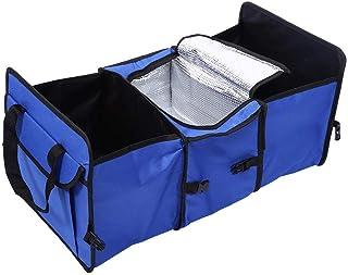 Car Trunk Foldable Cargo Organizer/Auto Interior Storage Bag Folding Case Blue