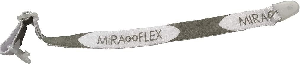 Miraflex Replacement Straps Eyeglasses Medium Adjustable Elastic (White)