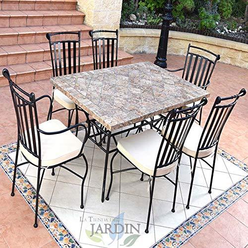 Keramische set voor tuintafels en stoelen Cordoba.