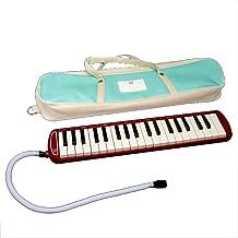 Piano Style Melodica Niños 37 teclas portátiles Pianica melódicas con bolsa de transporte Instrumento musical Regalo Juguetes para amantes de la música Principiantes Boquillas Juegos de tubos Negro Az