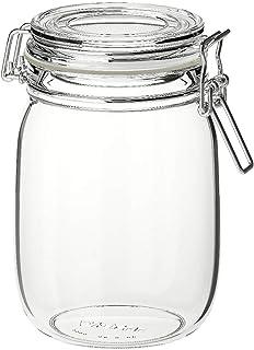 Ikea KORKEN - Jar with lid, clear glass - 1 l