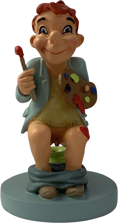La figura de caganer, figura de belén, muy original, pablo el pintor en el orinal