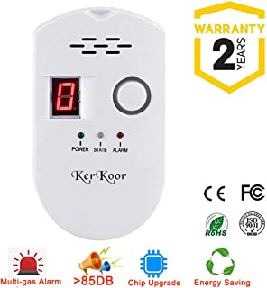 KerKoor Gas Leak Detector-1 Natural Gas Alarm Detector For Home Gas Tester Propane Smart Gas Detector Electronic Sniffer Pen Plug-In Gas Detector For Gas Sensor Methane And Propane 5×3 in/White/1pack