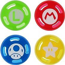 TDTOK Tampa para polegar com 4 peças, boné Joystick para Nintendo Switch & Lite e capa de silicone macio para controle Jo...