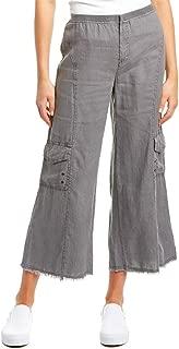 Women's Rustic Cargo Crop Pants in Linen
