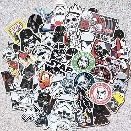 MYOMY Sticker Doodle Waterproof Sticker Bag Creative 50 Pcs Applique Motorized Skateboard Travel Suit Helmet
