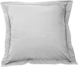 European Square Pillow Shams Set of 2 Silver Gray 500 Thread Count 100% Natural Cotton pack of Two Euro 26 x 26 Pillow shams Cushion Cover, Cases Super Soft Decorative (Silver Gray, European 26x26)