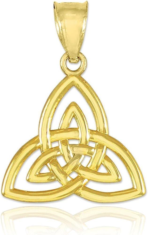 price 10k Gold Celtic Luxury goods Knot Pendant Triquetra Charm