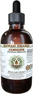 Jasmine Alcohol-Free Liquid Extract, Organic Jasmine (Jasminum officinale) Dried Flower Glycerite Hawaii Pharm Natural Her...