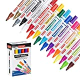 ZEYAR Paint Markers, 18 Colors, Medium Point, Permanent & Waterproof ink, Expert of Rock Painting, Oil-Based, Great on Mug, Rock, Glass, Canvas, Metal and more