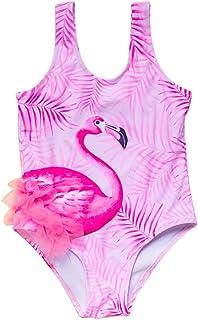 Toddler Baby Girls Swimsuit Off Shoulder Stripe Halter Rainbow Ice Print Swimwear Summer One-Piece Bathing Suit Beachwear
