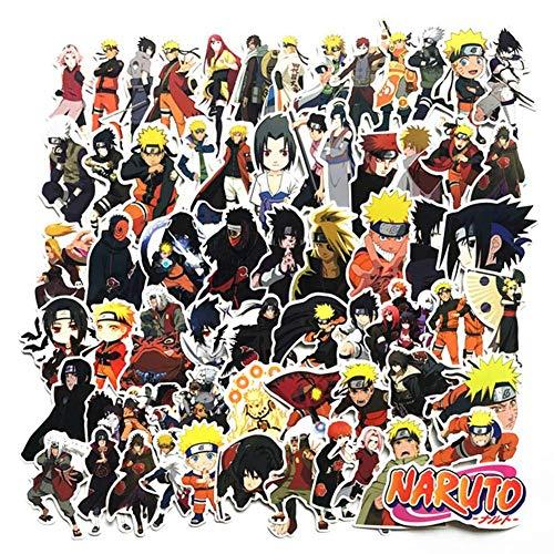 Zhongyanxin 2020 Japan Anime Naruto Sasuke Cartoon für Snowboard Laptop Gepäck Kühlschrank Auto Styling Vinyl Aufkleber Sticker für Japan Anime Ventilatoren - Mehrfarbig, 4-10cm