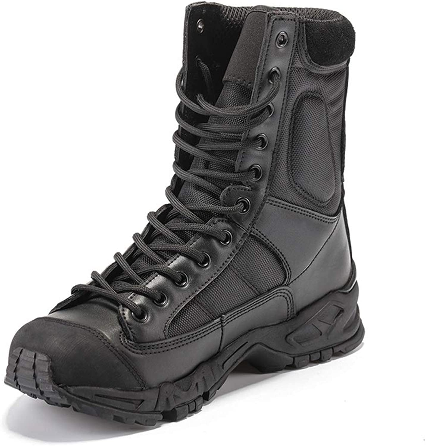 HEMAY Unisex Combat Boots High Top Hunting Military shoes Black