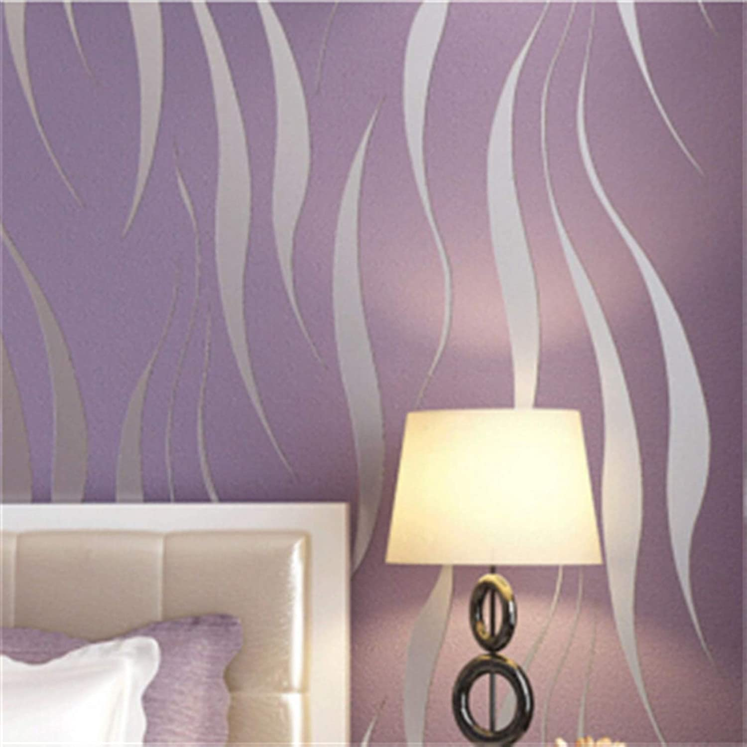 JFIA65A Modern Max 59% OFF Non Online limited product Woven Wallpaper Geometric Stripes Hom Flocked