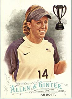 2016 Topps Allen & Ginter #63 Monica Abbott Softball Player Baseball Card