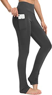SEVEGO Women's Goddess Extra Long Yoga Leggings with Pockets Over The Heel Stacked LeggingBarre Dance Athletic Workout Pants