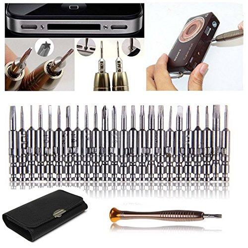 25 in 1 Precisie Schroevendraaier Set voor iPhone Samsung Galaxy Horloge Laptop Opening Reparatie Gereedschap Kit Pentalobe Torx Gesloten Philips