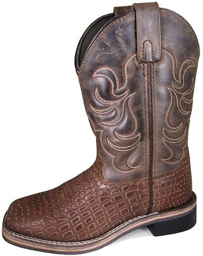 Smoky Mountain Boots Reptile Children's Square Toe Leather Boots