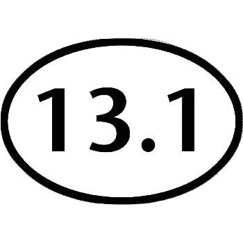 Motvia 13.1 Half Marathon Oval Vinyl Decal// Bumper Sticker 6.5x 4.25