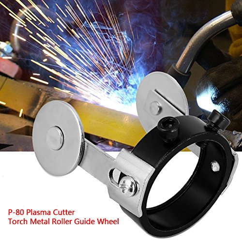 Cutter Torch Roller Guide, Rollenführung Plasma Cutter Torch Metallrollenführungsrad mit zwei Schraubenpositionierung für P80 - 7