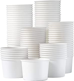Paper Ice Cream Cups - 100-Count 9-Oz Disposable Dessert Bowls for Hot or Cold Food, 9-Ounce Party Supplies Treat Cups for...