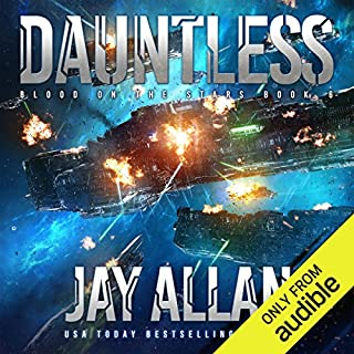 Dauntless     Blood on the Stars, Book 6              Written by:                                                                                                                                 Jay Allan                               Narrated by:                                                                                                                                 Jeffrey Kafer                      Length: 11 hrs and 48 mins     4 ratings     Overall 4.8