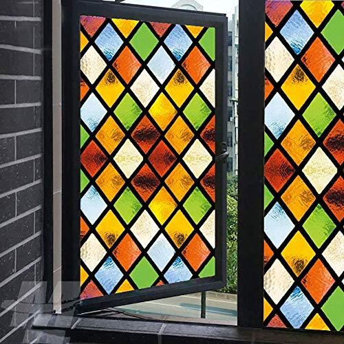Milchglas-Fensterfolie, Sichtschutz in gedeckten Farben, statische Haftung, dekorative Fensterverkleidungen, UV-blockierende Fensteraufkleber, 60 x 120 cm