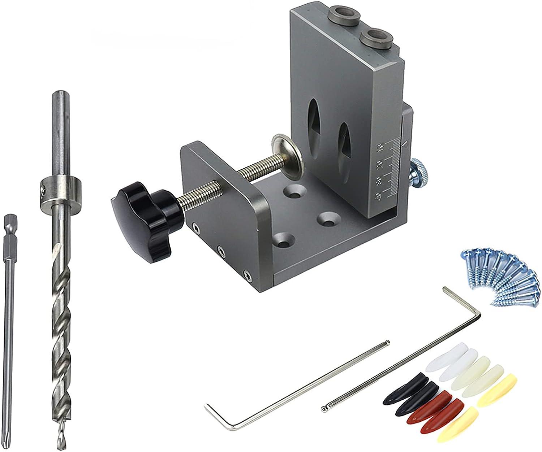 Sale Wowlela Direct store Pocket Hole Jig Kit Concealed 25pcs Hinge W Aluminum