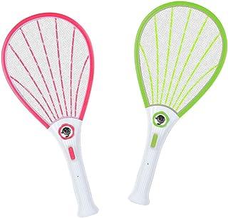 Chlry 2 Piezas Mata Mosquitos electrico, Matamoscas Raqueta electrico, Recargable, con Luces LED, Seguro, antimosquitos Bug Zapper