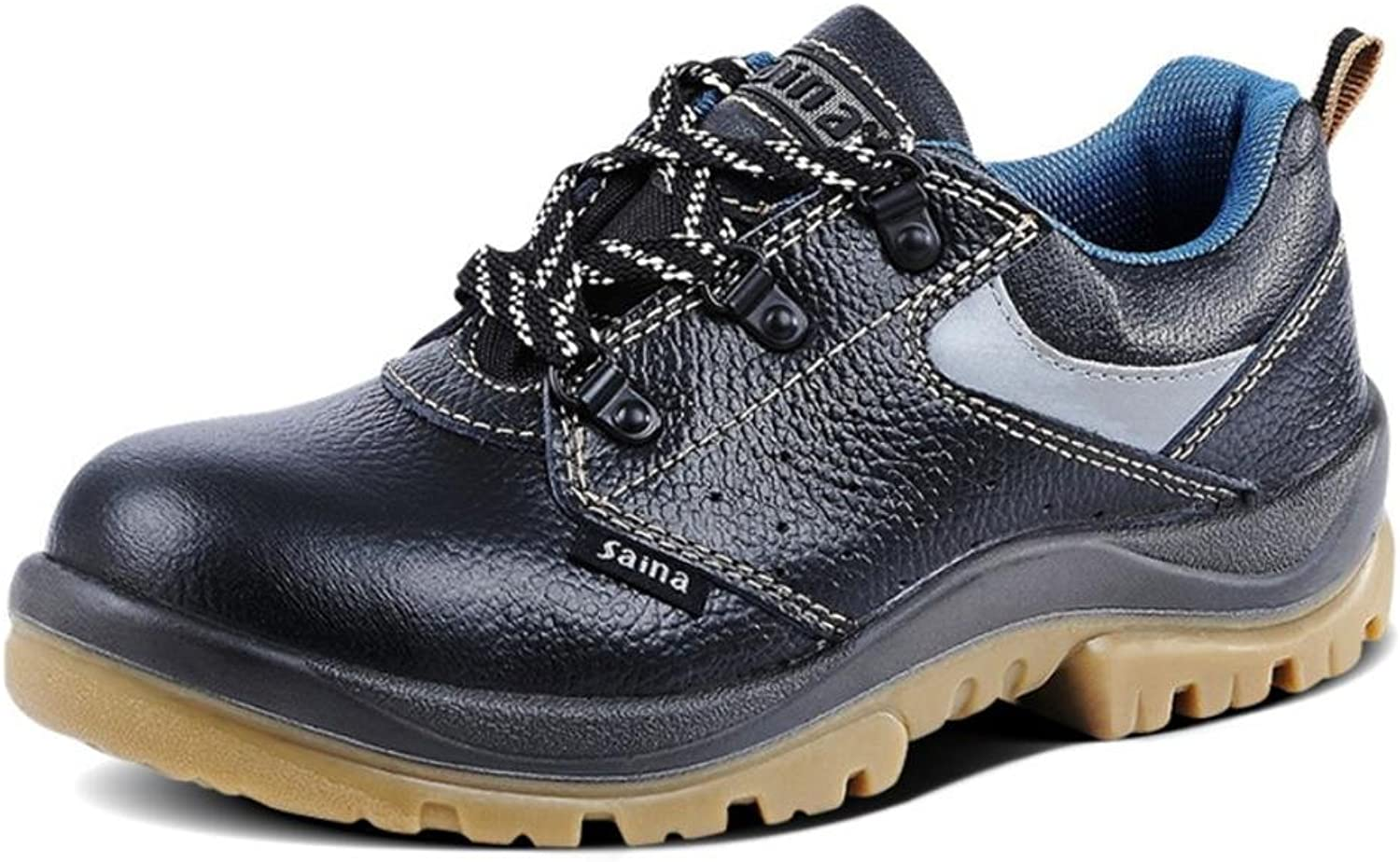 NANYDXIE Men And Women Genuine Leather Lace Breathable Anti-smashing Work shoes Safety shoes