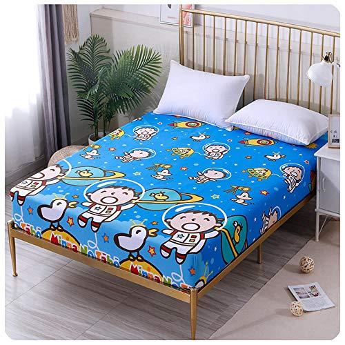CYYyang Protector de colchón de Rizo algodón y Transpirable Sábana de Dibujos Animados de una Sola Pieza Todo incluido-21_100 * 200 + 15