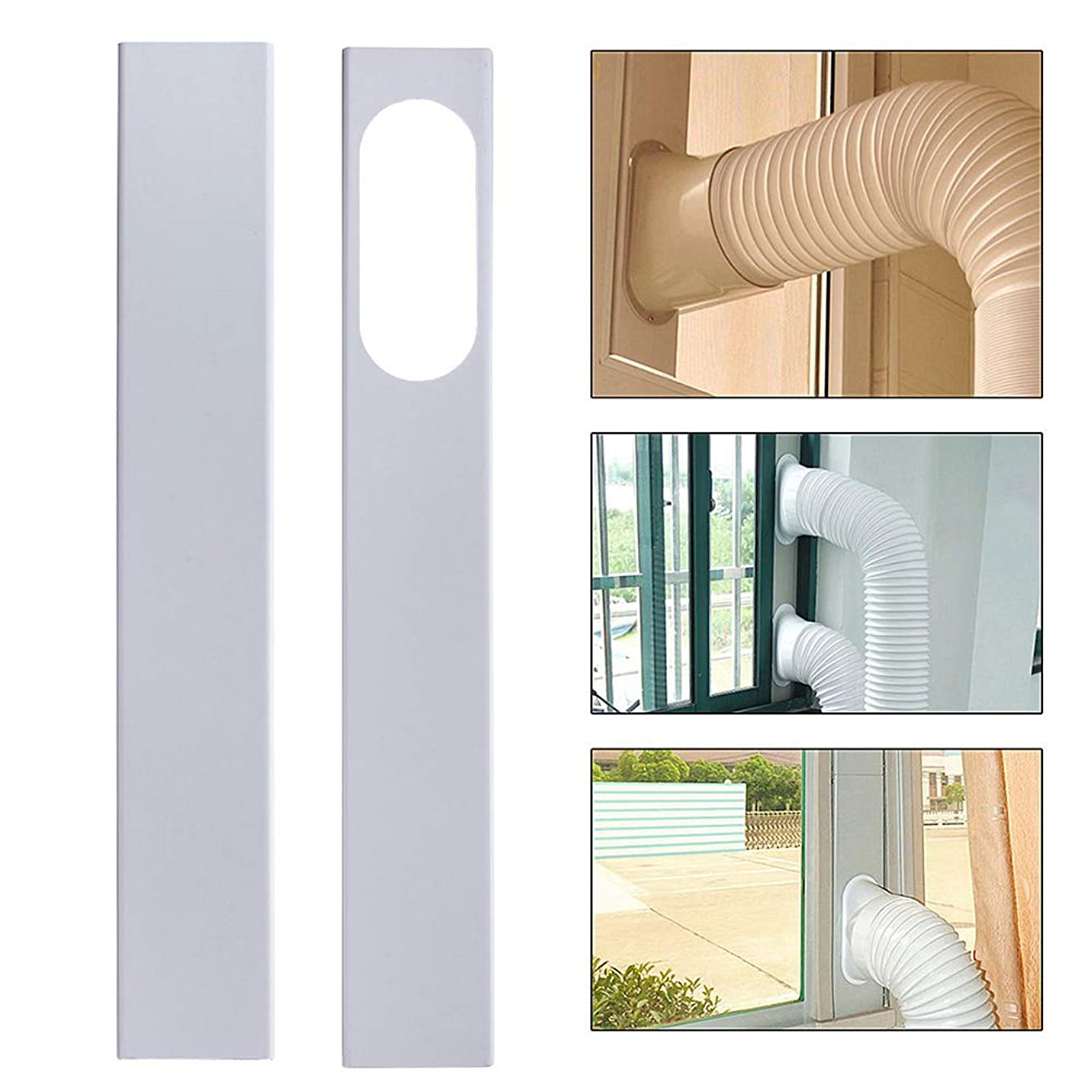 longdelaY6 Air Conditioner Accessories, Window Kit Plate,2Pcs 84-120cm Adjustable Window Slide Kit Plate for Portable Air Conditioner