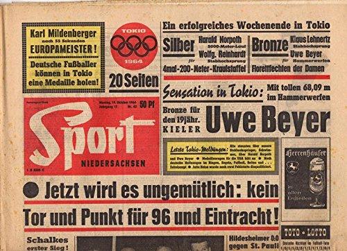 Sport Niedersachsen Nr. 42/1964 19.10.1964 Jetzt wird es ungemütlich: kein Tor und Punkt für 96 und Eintracht!