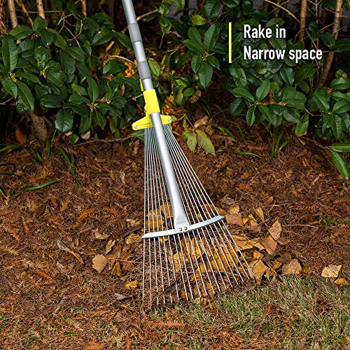 Jardineer 73 inch Adjustable Lawn Leaf Rake
