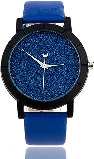 Pocciol Fashion Starry Sky Design Faux Leather Band Analog Quartz Wrist Watches Clock