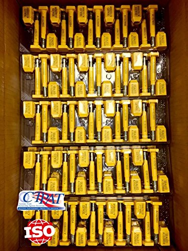Bolt Seals, 1000 High Security Shipping Seal with Print Progressive Numbering for Trucks, Trailers, Cargo Container Seals ISO and C-TPAT Certified