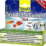 Tetra Prueba de agua 3 en 1 de AlgaeControl para comprobar los parámetros principales de algas en estanque o acuario, 1 bote (25 tiras de prueba)
