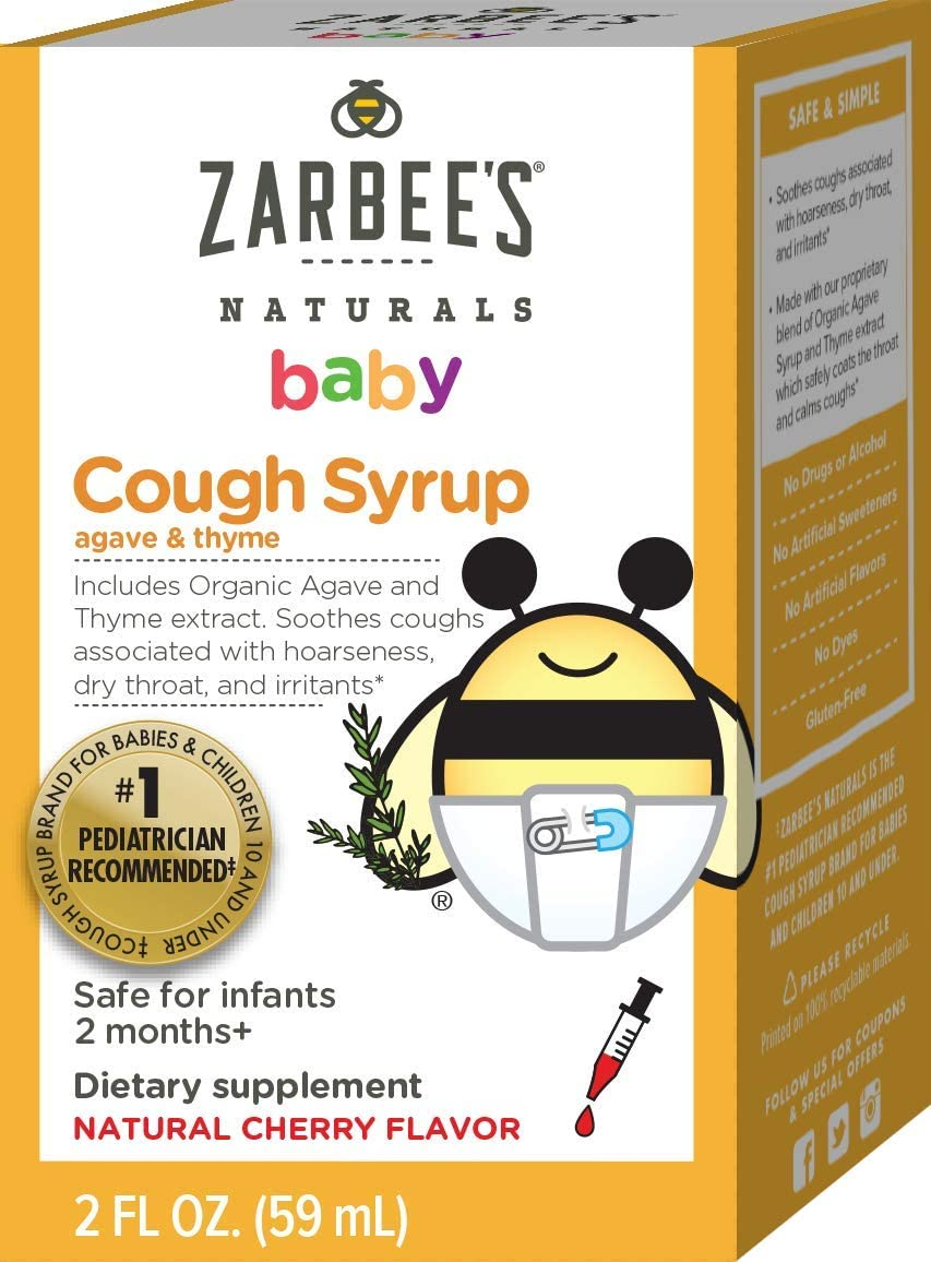 Zarbees Naturals Baby Cough Syrup with Agave & Thyme 2oz