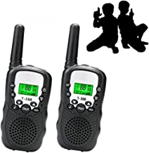 JRD&BS WINL Best Gifts for Kid,Gifts for Girl 8 Year Old, Walkie Talkies for Kid,Cool Toys for 4-5 Year Old Boys,1 Parir (Black)
