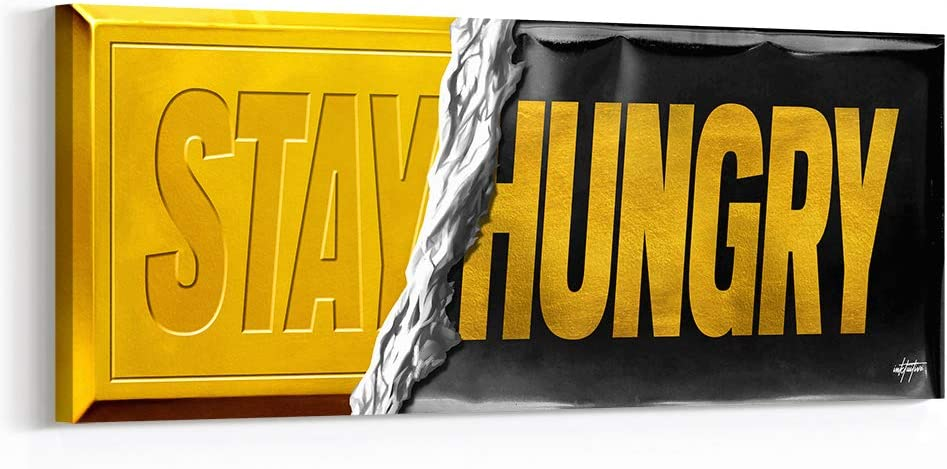 National Manufacturer direct delivery uniform free shipping Inktuitive 'Stay Hungry' Inspirational Wall Black Frame w Art