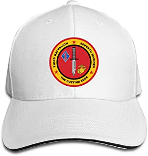 3rd Battalion, 7th Marines Adjustable Baseball Caps Vintage Sandwich Hat