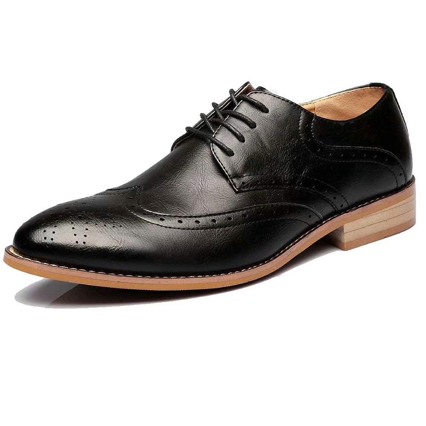 隠アイザック飼いならす通気性最高 メンズ ビジネスシューズ 本革 紳士靴 フォーマル シークレット ウォーキング ウイングチップ カジュアル 冠婚葬祭 ファッション 3色